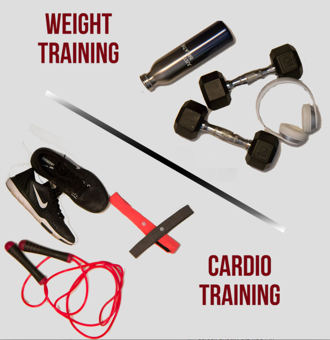 Working out different training methods: Weights or Cardio