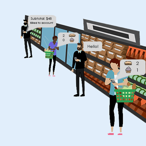 A step into the digitized Amazon Go store