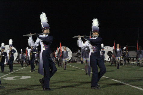 Marching band and colorguard keep up the pace