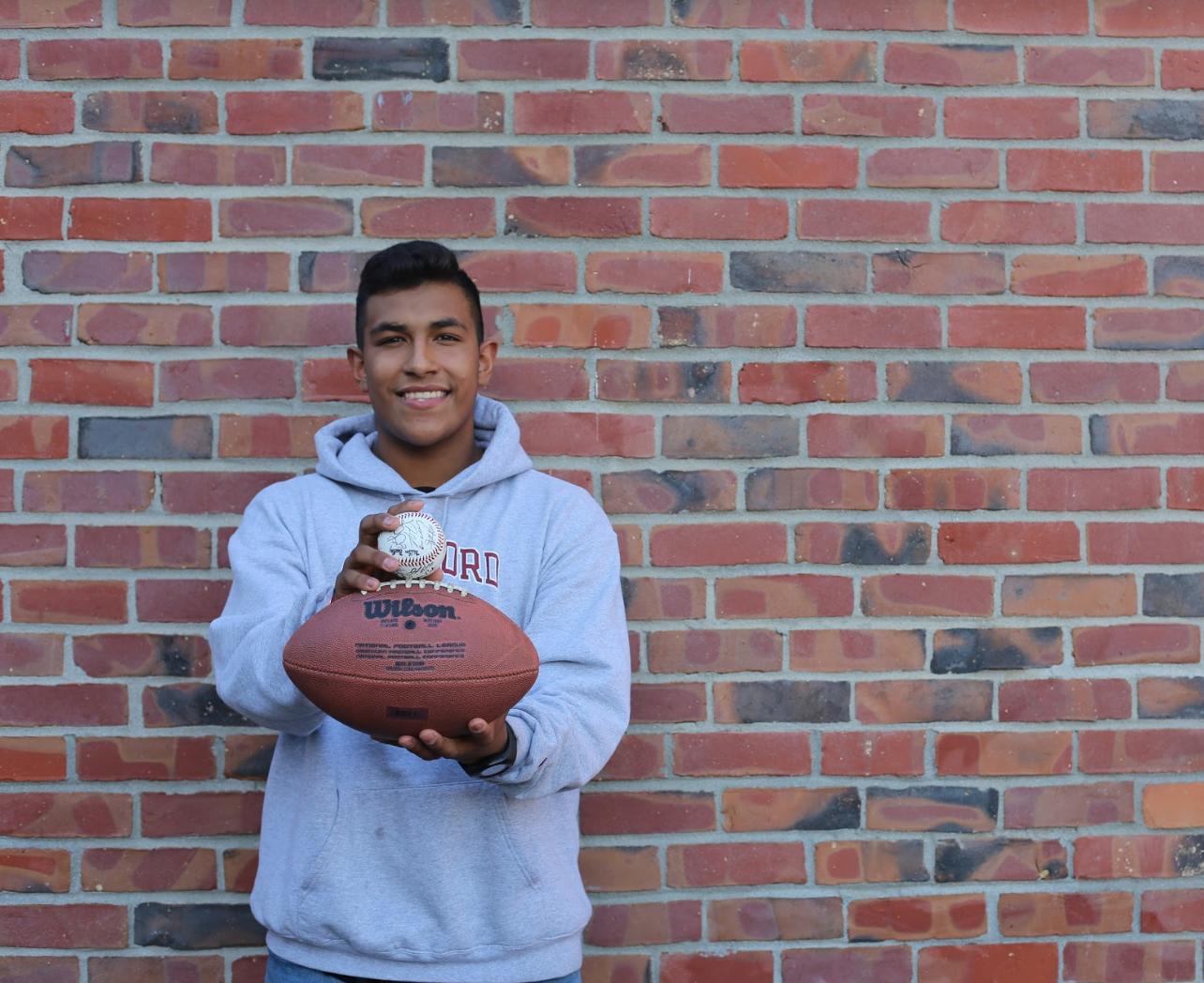 Junior Jonathan Leslie plays football and baseball at Lynbrook. His favorite quote is: