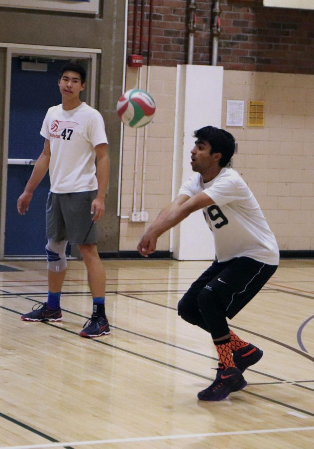 Boys volleyball working in tandem through the season