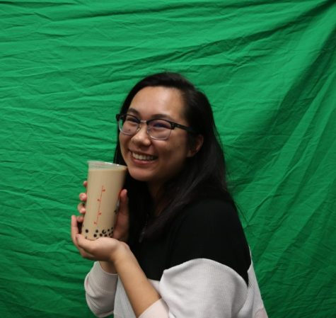 Writer Nicole Ong poses with her signature Pearl Milk Tea.