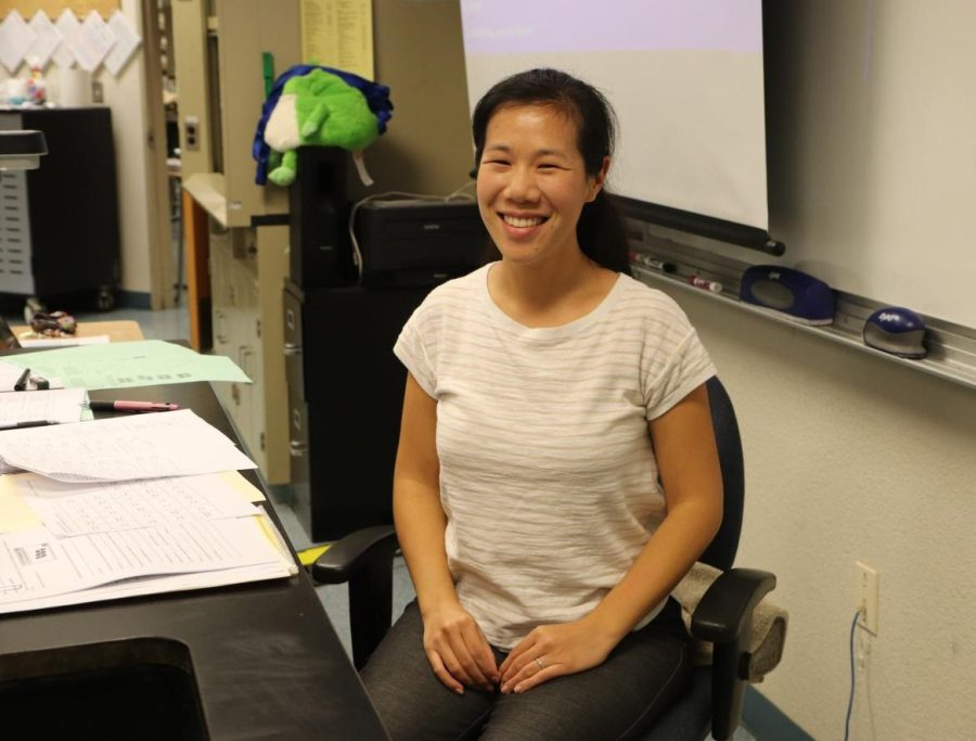 Connie Leung, the new chemistry teacher