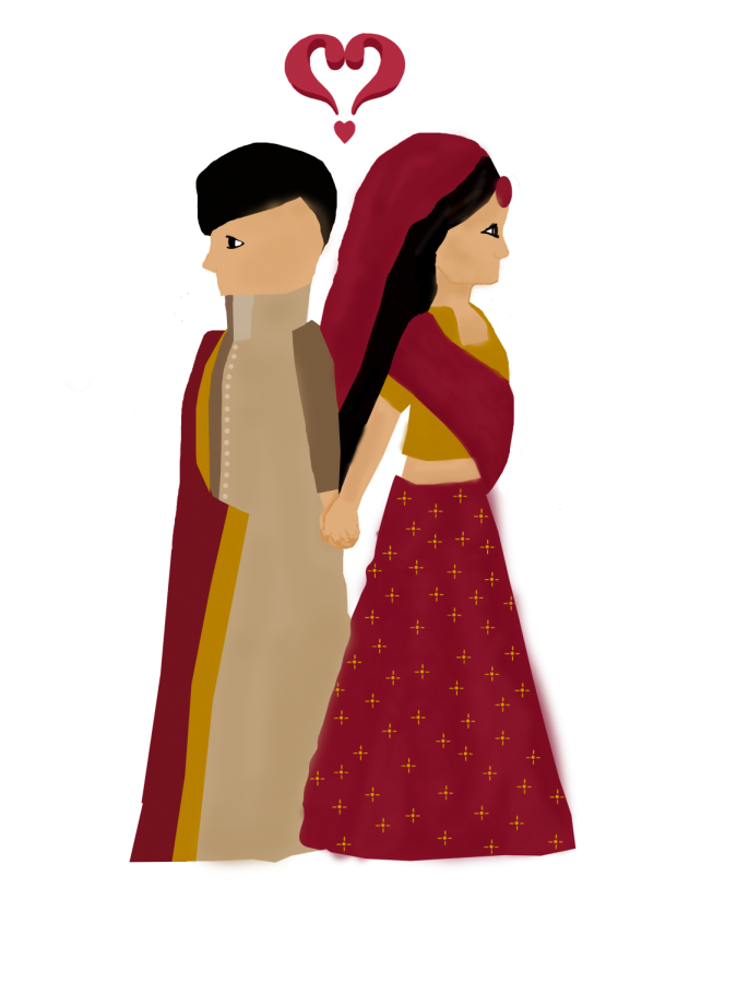 This couple was set up on a date and given a choice as to whether they would like to seal the union, unlike a forced marriage, in which the couple does not get time to familiarize themselves with each other and the family is completely in control regarding the decision