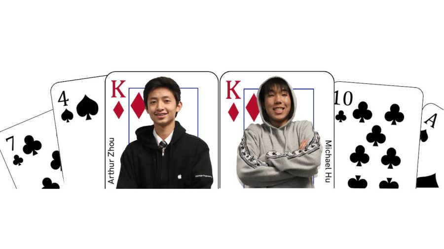 Junior Michael Hu (om the right) and sophomore Arthur Zhou (on the left) are teammates who play competitive bridge at an international level