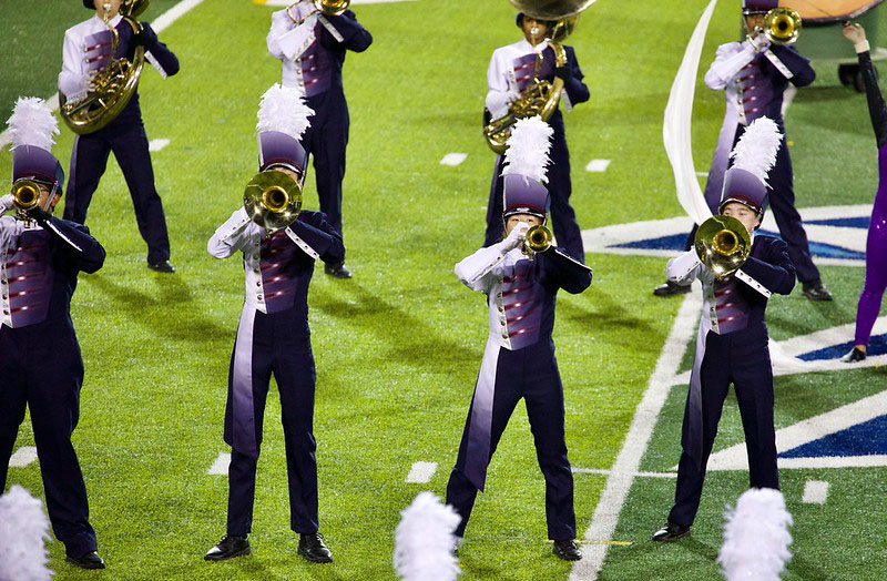 2017: After placing fifth in 2015 and seventh in 2016, the marching band and colorguard won second place in the final round of the NorCal Bands of America competition.