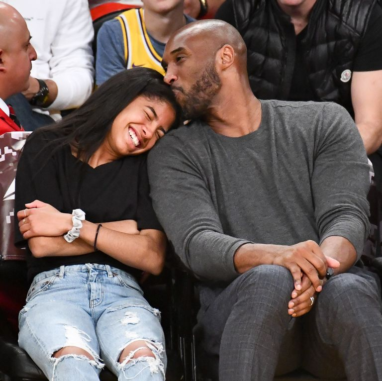 Kobe Bryant and his 13-year old daughter Gianna enjoy a Lakers game on Nov. 17.