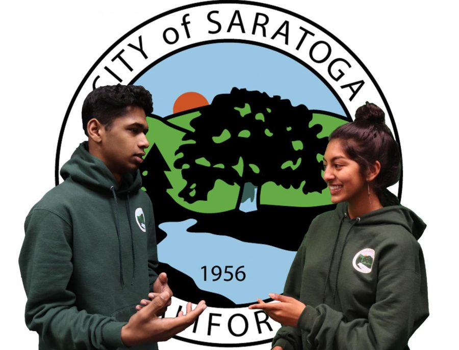 Juniors Pranav Chittharanjan and Nivi Madhan are members of Saratoga's Youth Commission.