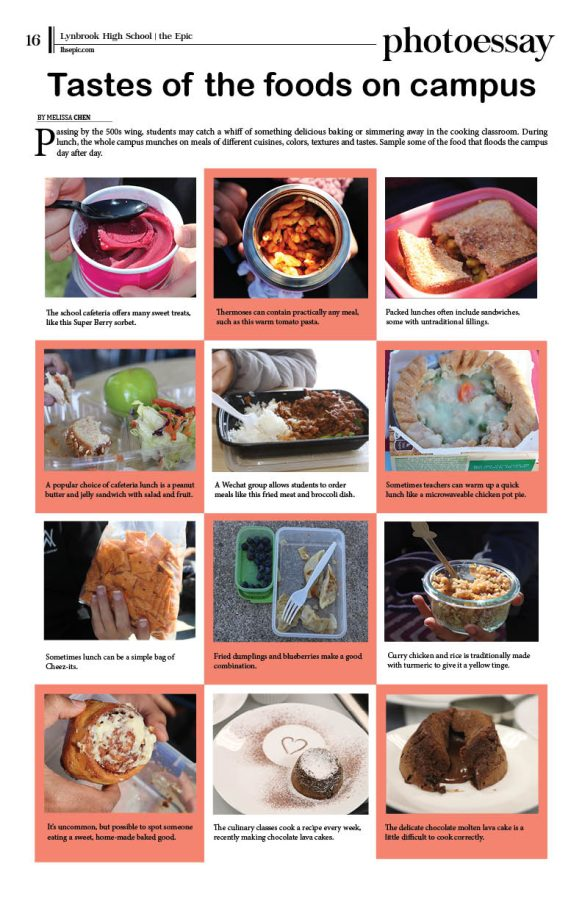 Print layout of campus foods photoessay