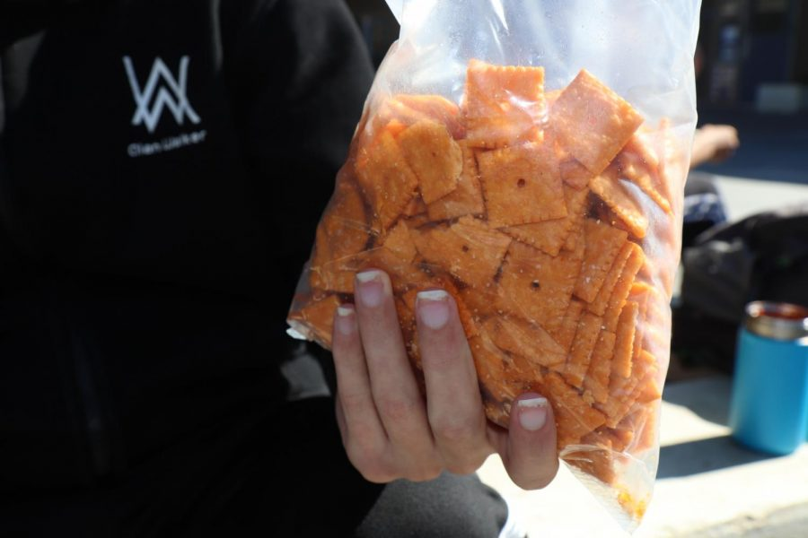 Sometimes lunch can be a simple bag of Cheez-its.