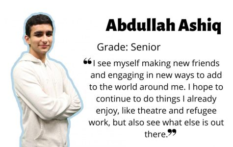 Senior Abdullah Ashiq connects with and shows compassion for others