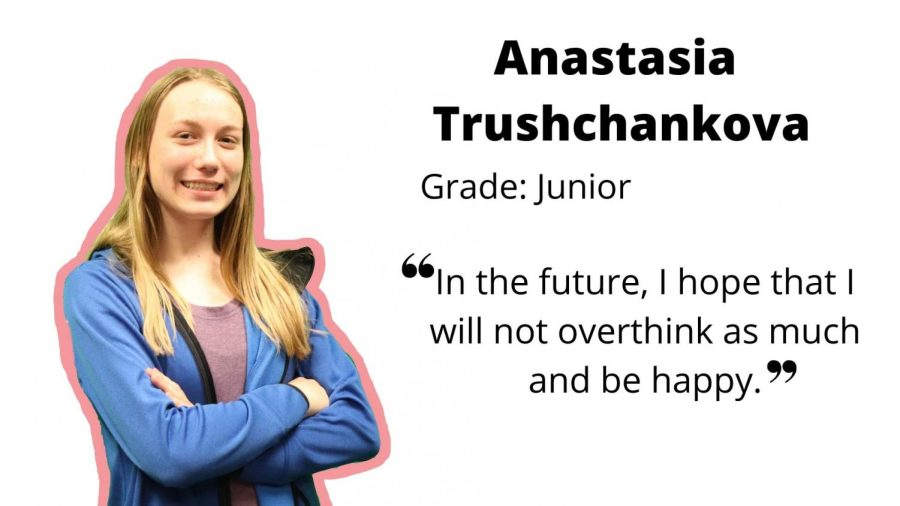 Junior Anastasia Trushcankova demonstrates leadership, hard work and passion
