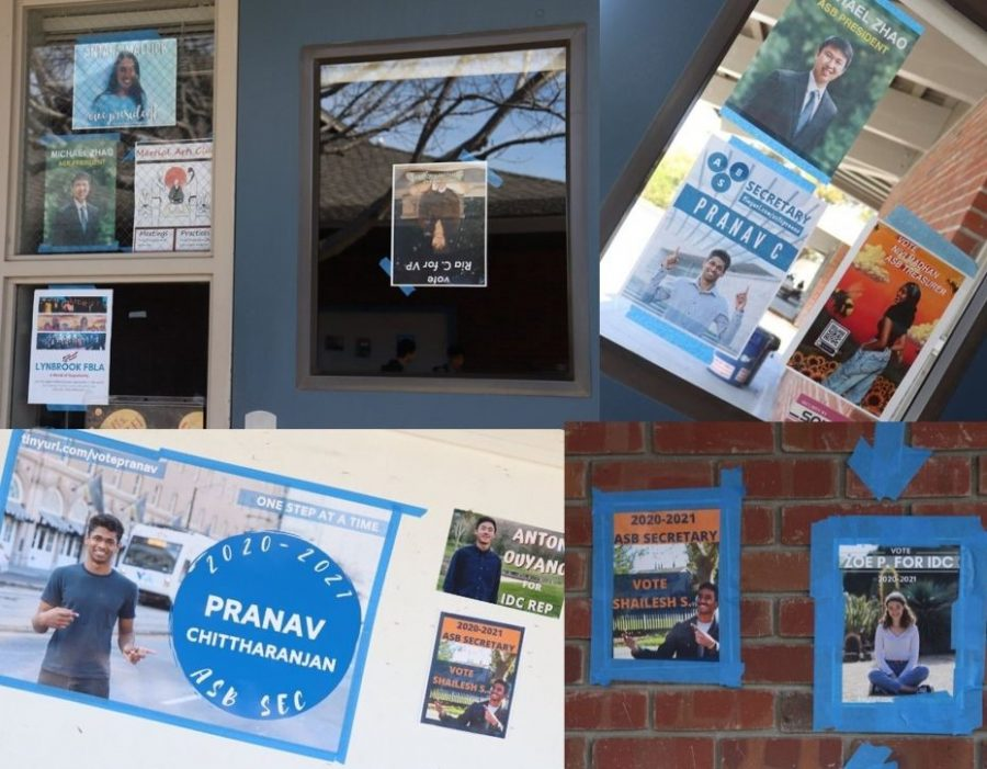 Lynbrook's brick walls were bedazzled with promotional posters taped around campus as candidates campaigned for ASB officer positions. Voting took place on March 5.