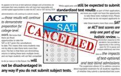 Impact of coronavirus on standardized testing