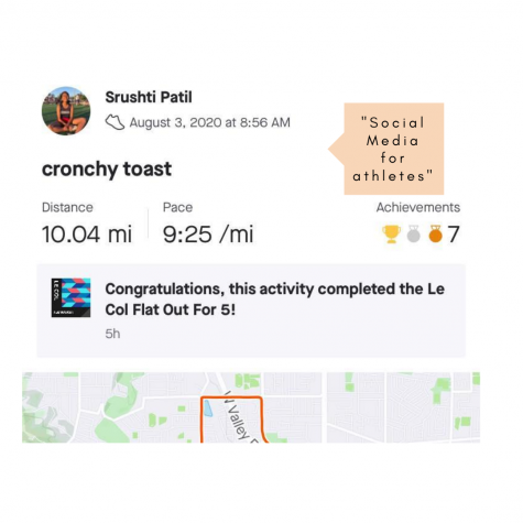 Screenshot of Strava with run title.