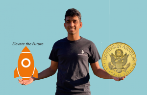 Arjun Gupta's nonprofit organization, Elevate the Future, has led to him earning the Jefferson Award.