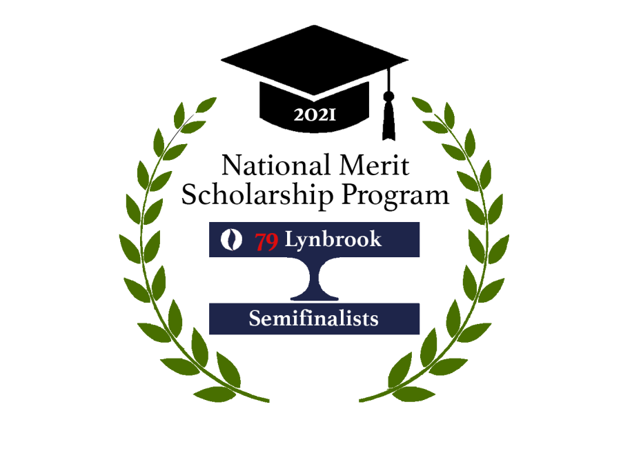 Graphic Illustration by Priyanka Anand.  This year, 79 Lynbrook seniors received the National Merit Semifinalist Award.