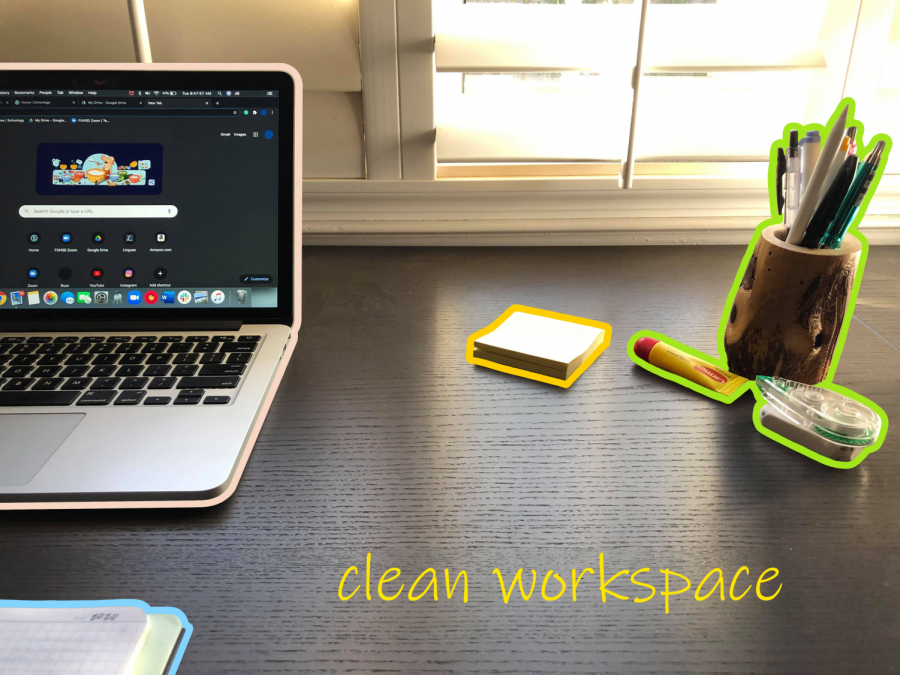 A clear workspace is closely linked to a clear mind, as each unnecessary object is a potential distraction.