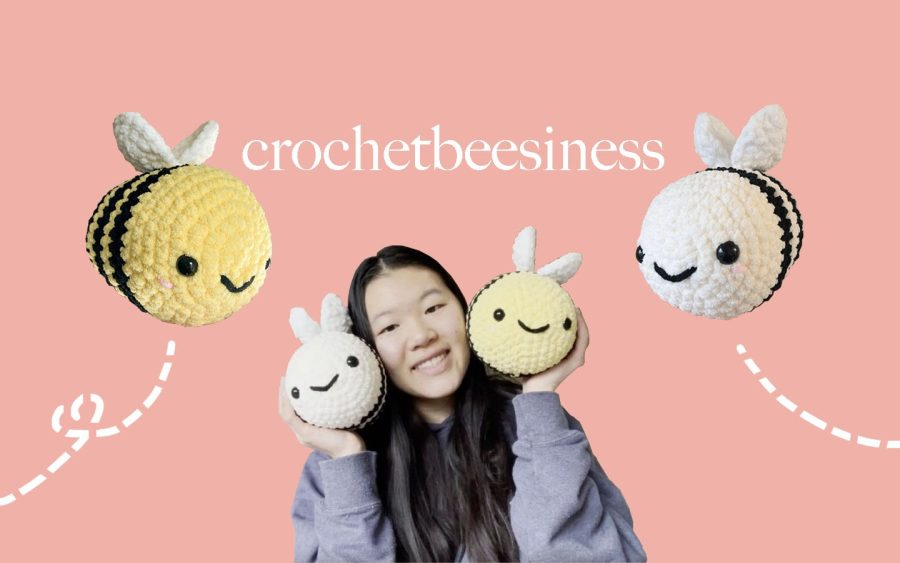 During+the+pandemic%2C+sophomore+Annie+Liu+has+created+an+Etsy+store+selling+crocheted+bees.+Inspired+to+raise+money+for+her+charity+work%2C+she+handmakes+and+personally+delivers+each+plush+toy.