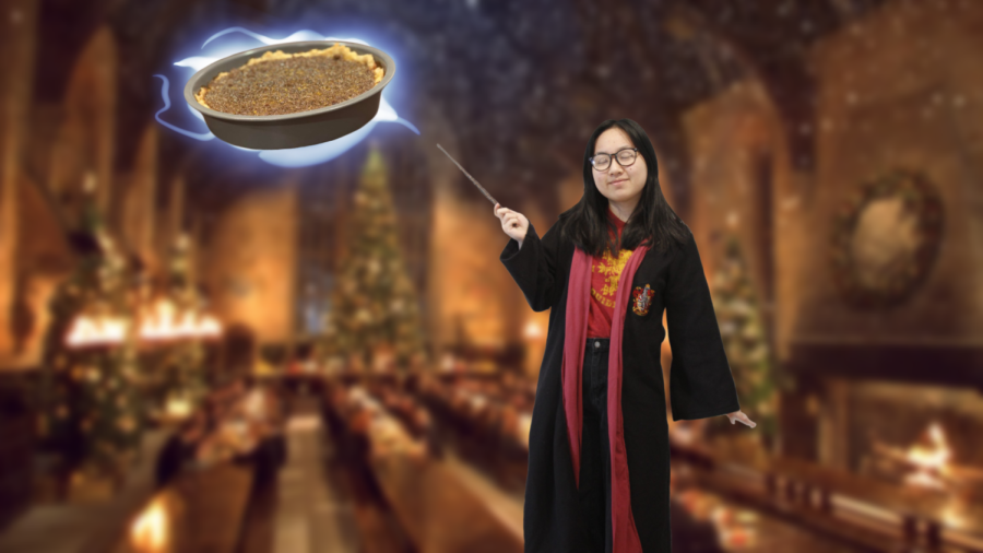 "With a swish of my wand, I levitate my treacle tart into the Great Hall of Hogwarts. Remember, it's ""LeviOsa,"" not ""LeviosA."""