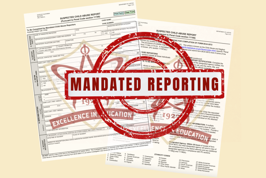 It is imperative that students be aware of staff members' responsibility as mandated reporters for the wellbeing of themselves and their peers, in the case that they find themselves in such a harrowing situation.