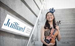 After a grueling four years of balancing her musical and educational pursuits, Grace Huh commits to Columbia-Juilliard program. (Photo by Carlin Ma.  Graphic Illustration by Kavya Iyer.)