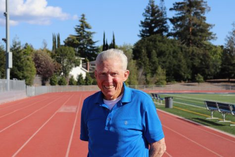 In addition to his coaching duties, Coach Jake White, who had a long career as a runner himself, often shares light-hearted stories of his experiences with his track and cross country runners.