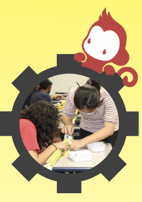 The Lynbrook Robotics team works hard for CalGames, an annual robotics competition. (Graphic Illustration by Amishi Chandra and Jason Shan)